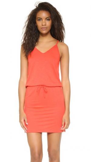 Мини-платье с V-образным вырезом Lanston. Цвет: калипсо