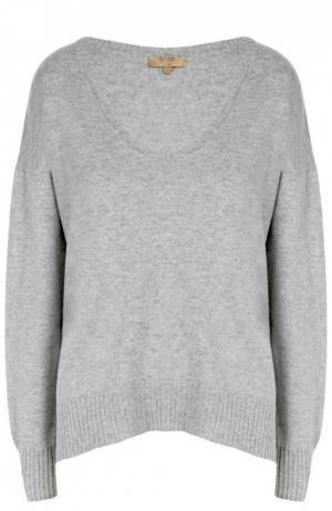 Кашемировый пуловер свободного кроя с круглым вырезом Back Label. Цвет: серый