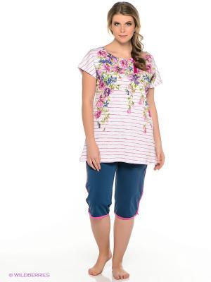 Пижама PELICAN. Цвет: белый, серо-голубой
