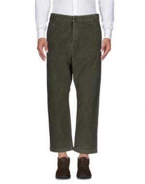 Повседневные брюки DERRIÉRE. Цвет: зеленый-милитари