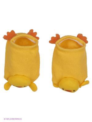 Носки SKIDDERS. Цвет: желтый
