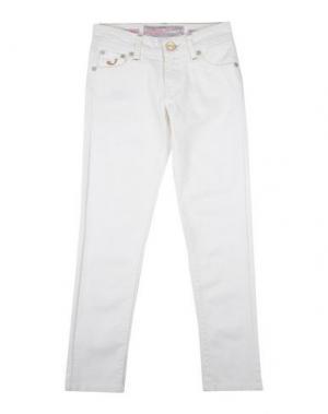 Джинсовые брюки JACOB COHЁN JUNIOR. Цвет: белый