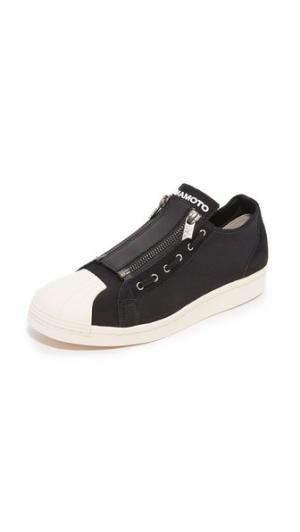 Кроссовки Super с молниями Y-3. Цвет: базовый черный/базовый черный/мульти