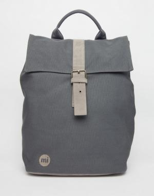 Mi-Pac Темно-серый парусиновый рюкзак. Цвет: серый