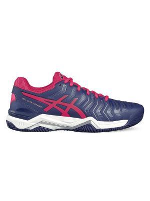 Спортивная обувь GEL-CHALLENGER 11 CLAY ASICS. Цвет: темно-синий, розовый, серебристый