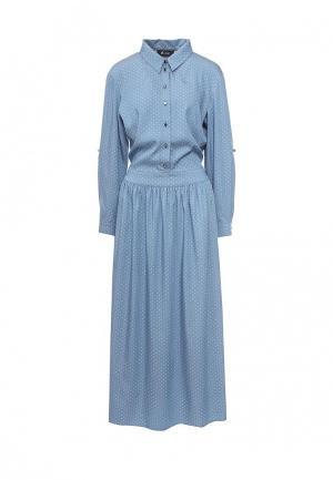 Платье Aelite. Цвет: голубой