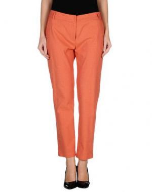 Повседневные брюки NIU'. Цвет: ржаво-коричневый
