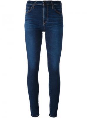 Джинсы скинни Farrah Ag Jeans. Цвет: синий