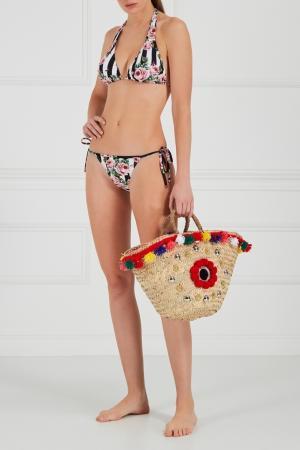 Плетеная сумка-корзинка Naca Medium Micaela Spadoni. Цвет: multicolor