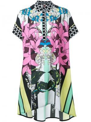 Платье-рубашка с цветочным принтом IM Isola Marras I'M. Цвет: многоцветный