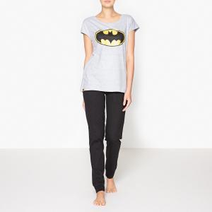 Пижама с принтом, Batman. Цвет: черный/серый