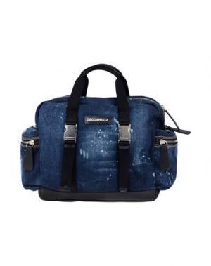 Дорожная сумка DSQUARED2. Цвет: синий