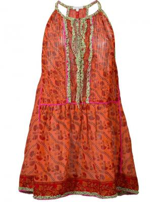 Платье Bobo Poupette St Barth. Цвет: жёлтый и оранжевый