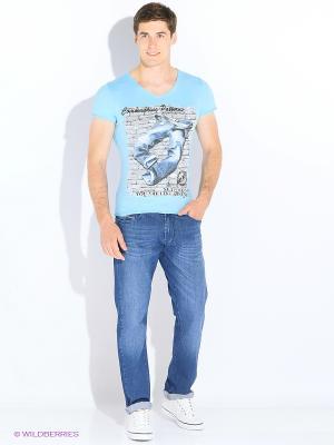Футболка Marco Masini. Цвет: синий