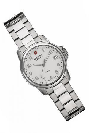 Наручные часы Swiss military. Цвет: white and silver