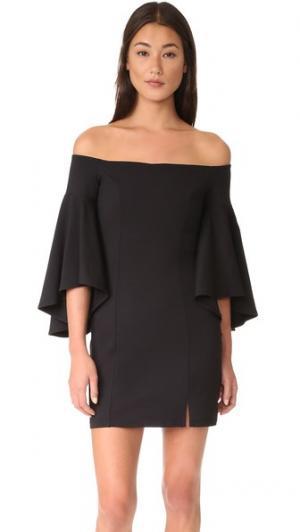 Платье с открытыми плечами Cara Susana Monaco. Цвет: голубой