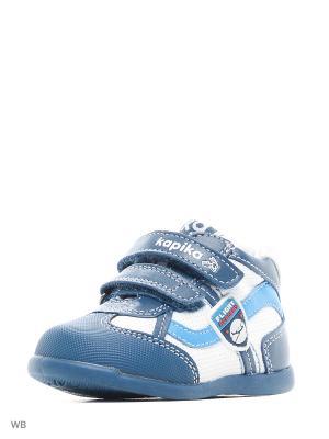 Ботинки Kapika. Цвет: голубой, белый