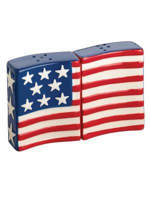 Flags Flying Набор солонка и перечница BOSTON. Цвет: красный