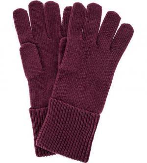 Фиолетовые вязаные перчатки Tommy Hilfiger. Цвет: фиолетовый