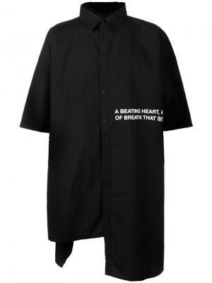 Рубашка с короткими рукавами Barbara I Gongini. Цвет: чёрный