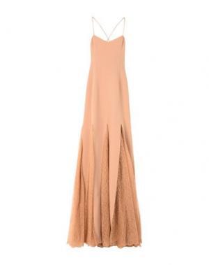 Длинное платье MICHAEL KORS COLLECTION. Цвет: телесный