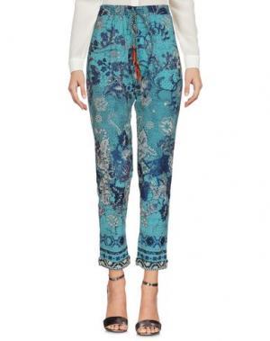 Повседневные брюки FUZZI. Цвет: цвет морской волны