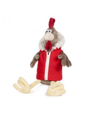 Петух Михалыч в Жилетке, 30 см (MT-TSA-8318-30) MAXITOYS. Цвет: бежевый, коричневый, красный