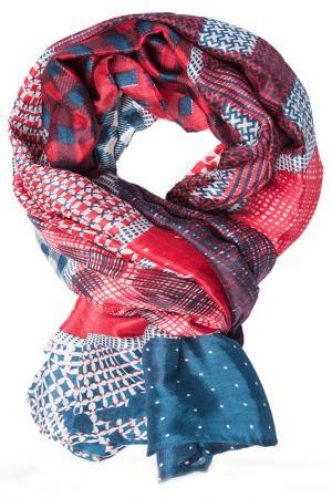Платок Michel Katana. Цвет: красный, серый, коричневый