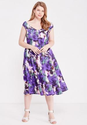 Платье Just Joan. Цвет: фиолетовый
