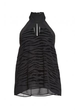Блуза из искусственного шелка PZ-189122 Anna Rita N. Цвет: черный