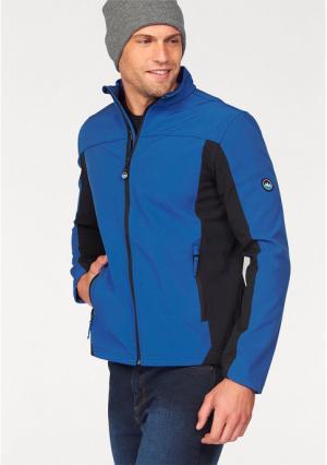 Куртка POLARINO. Цвет: синий, темно-серый