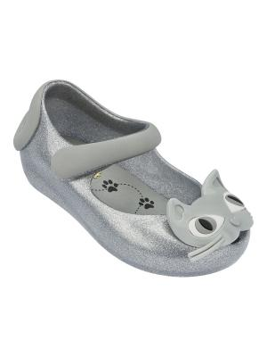 Туфли Melissa. Цвет: серебристый