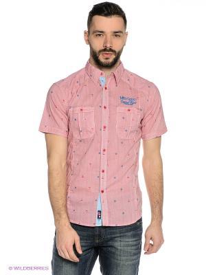 Рубашка Mavango. Цвет: красный, белый