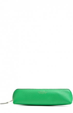 Футляр для карандашей Smythson. Цвет: зеленый