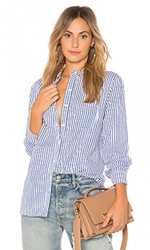Рубашка на пуговицах Stateside. Цвет: синий