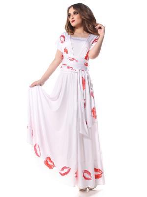 Платье-трансформер с оборкой Губки длинное SEANNA