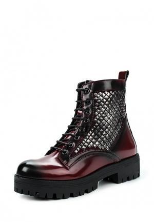 Ботинки Studio Italia. Цвет: бордовый