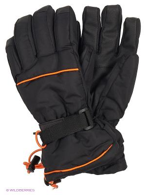 Перчатки Чудо-Кроха. Цвет: черный, оранжевый