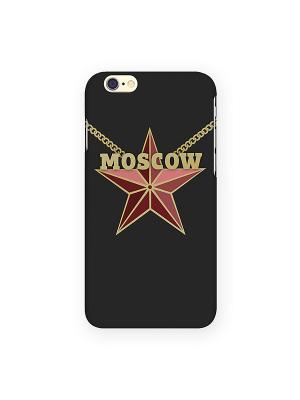 Чехол для IPhone 6 Moscow Star Mitya Veselkov. Цвет: черный, красный, желтый