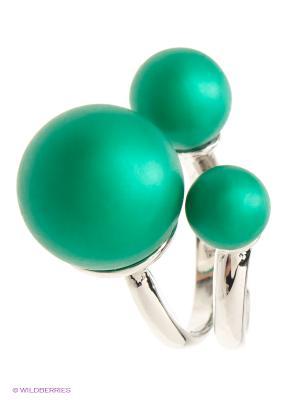 Кольцо Lovely Jewelry. Цвет: зеленый