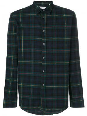 Рубашка в клетку Department 5. Цвет: зелёный