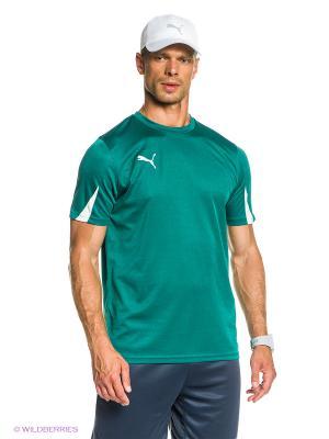 Футболка Team Shirt Puma. Цвет: зеленый