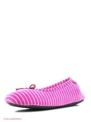 Тапочки Isotoner. Цвет: розовый