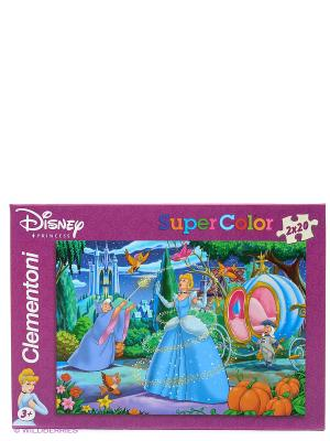 Disney пазл Набор 2х20эл. Золушка Clementoni. Цвет: синий, фиолетовый, оранжевый