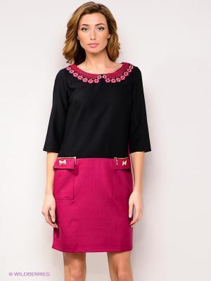 Платье FRENCH HINT. Цвет: фуксия