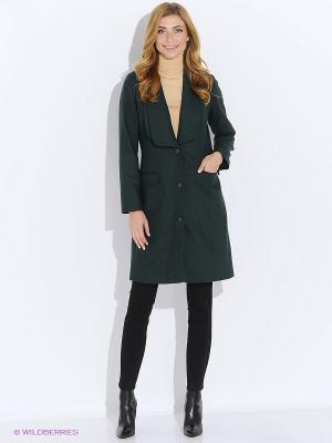 Пальто Katerina Bleska&Tamara Savin. Цвет: темно-зеленый