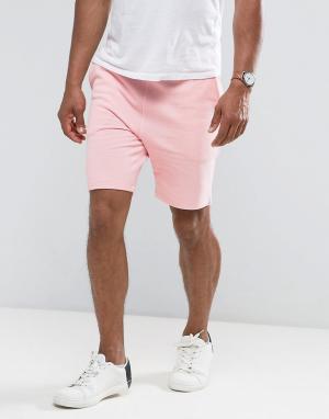 ASOS Розовые трикотажные шорты зауженного кроя. Цвет: розовый