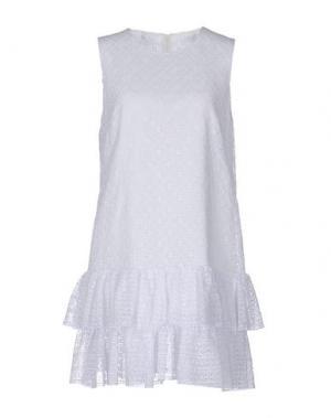 Короткое платье PHILOSOPHY DI LORENZO SERAFINI. Цвет: белый