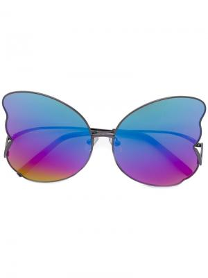 Солнцезащитные очки с дизайном крыльев бабочек Matthew Williamson. Цвет: чёрный