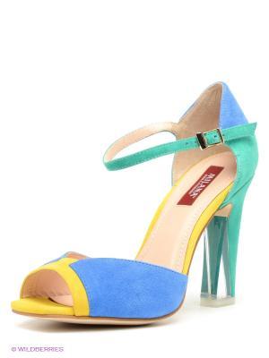 Босоножки MILANA. Цвет: зеленый, желтый, синий